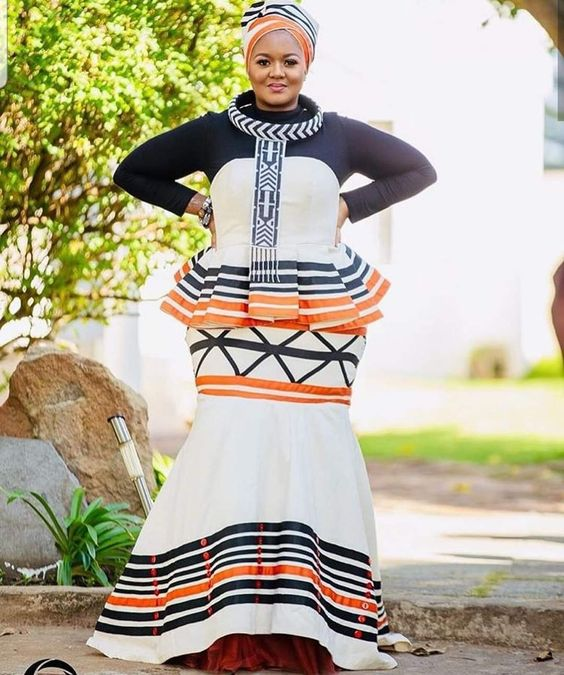 Beautiful Xhosa Dress With Tulle